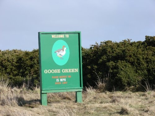 Goose Green Settlement - Welcome Sign