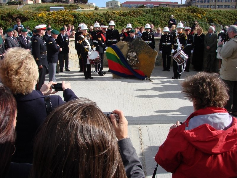 Royal Marines Memorial Dedication