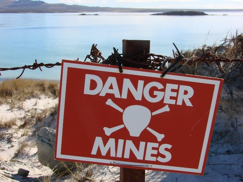Minefield Sign, York Bay