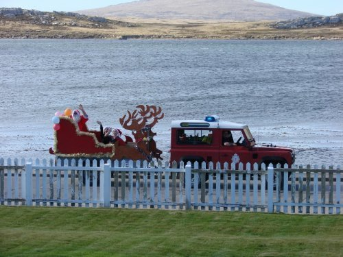 Santa Arrives in Stanley