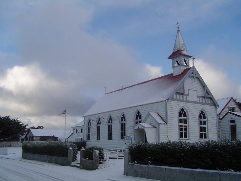 St Mary's Roman Catholic Church in the Snow