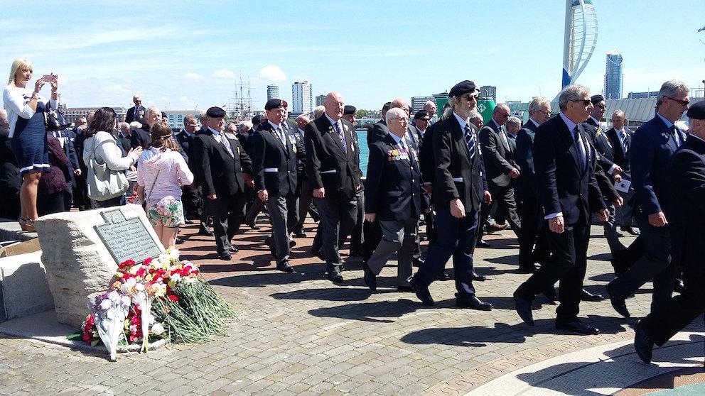 Falklands Veterans Parade in Gosport: Sunday 21st May 2017